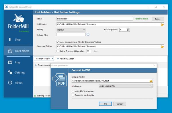 Zautomatyzuj konwersję PST do PDF za pomocą FolderMill